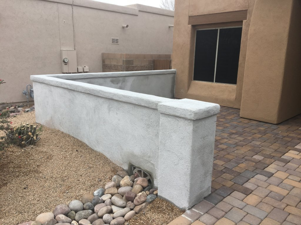 COURTYARDS, PLANTERS, AND WALLS